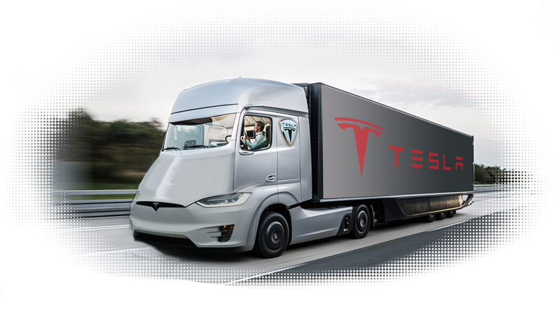 Illustration for article titled Elon Musk Just Teased The First Image Of The Tesla Semi Truck