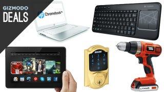 Illustration for article titled Deals: Huge Kindle Fire Discount, Smart Deadbolt, Logitech Combo