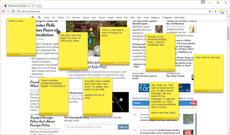 Add Sticky Notes to Any Page With Note Anywhere