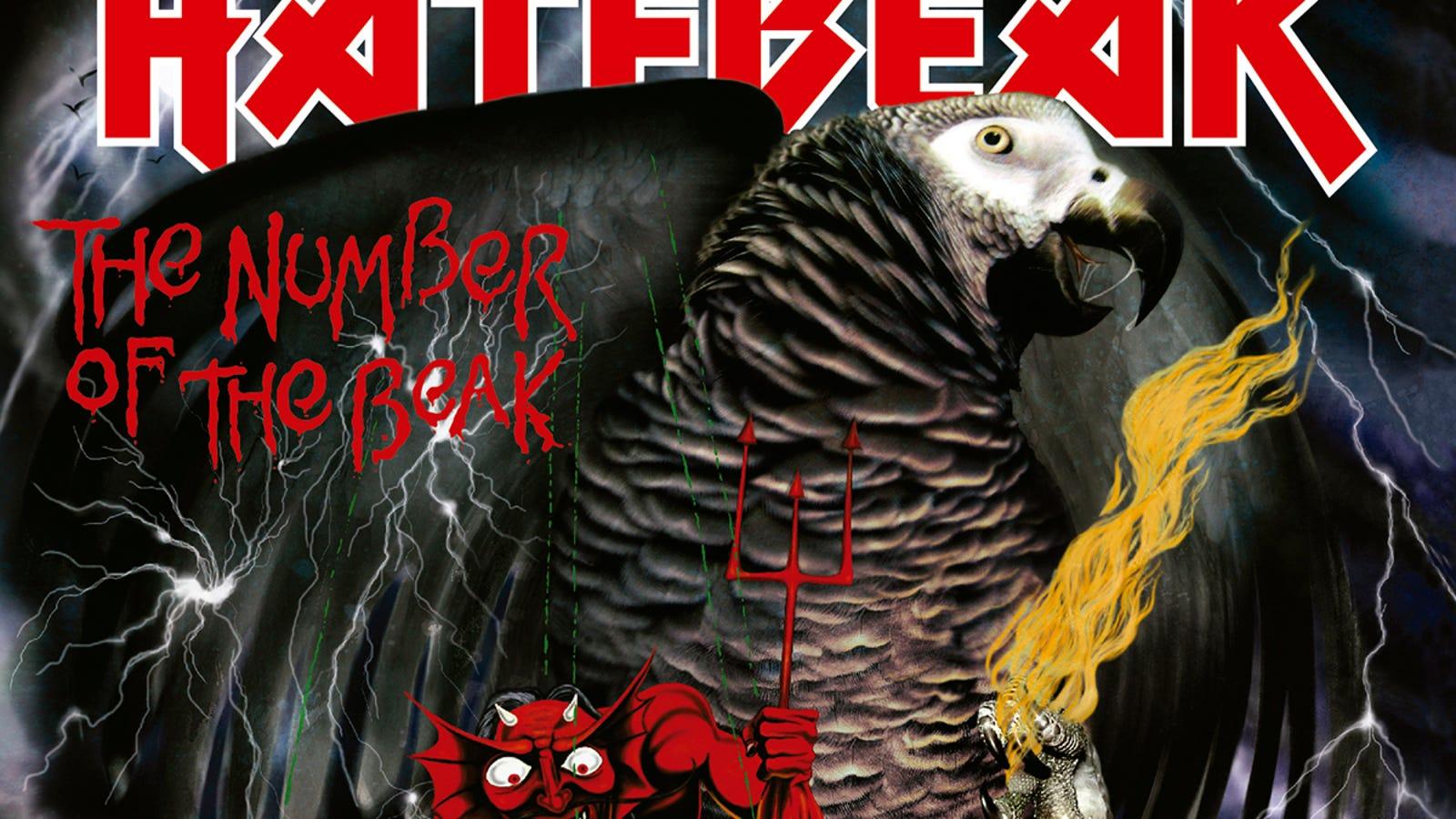 El vocalista de esta banda de death metal es un loro gris (y ya ha grabado cuatro discos)