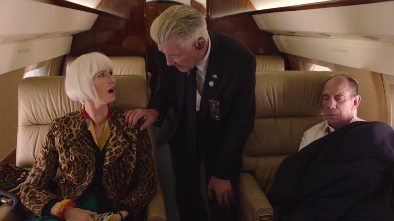 (Laura Dern, David Lynch, Miguel Ferrer) (Screenshot: Twin Peaks)