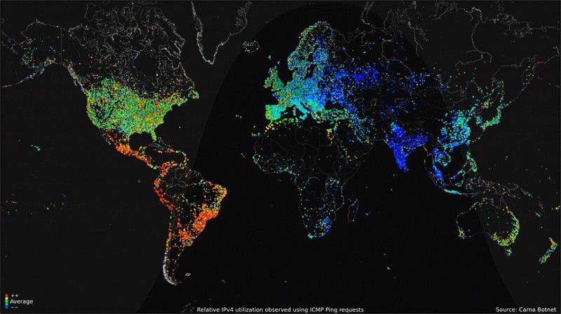 Trafic internet basé sur l'appel d'adresses IP V4