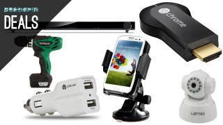 Illustration for article titled Charge and Mount Your Phone in the Car, $25 Chromecast Sale [Deals]