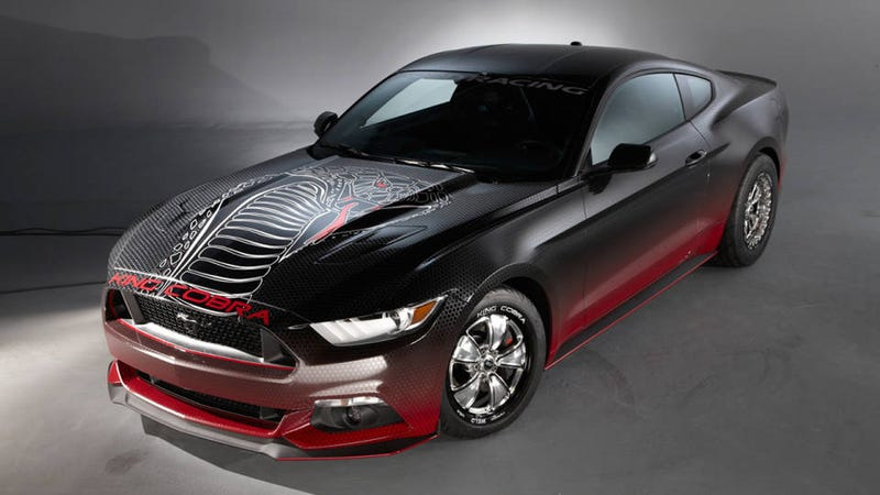 Illustration for article titled How The 2015 Ford Mustang King Cobra Runs A 10.97 Second Quarter Mile