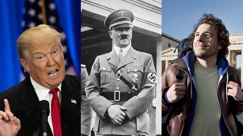 Illustration for article titled Trump's Campaign Eerily Reminds Me Of Hitler's Rise To Power, Which Eerily Reminds Me Of My Wonderful Trip To Berlin In 2004