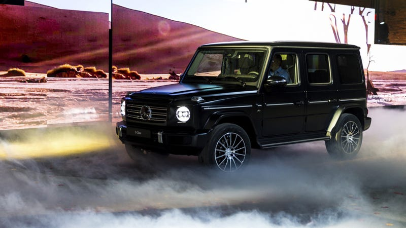 The new mercedes benz g class has a lot of changes except for Mercedes benz pines