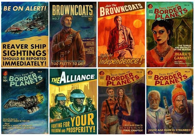 Illustration for article titled Here's How Firefly Would Have Looked As Pulp Novels