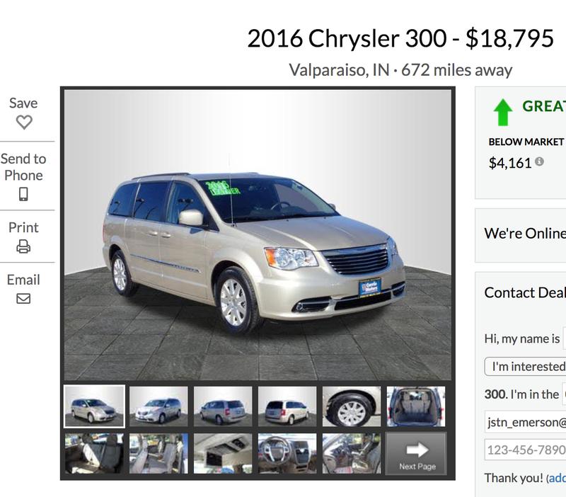 Illustration for article titled Very strange Chrysler 300...