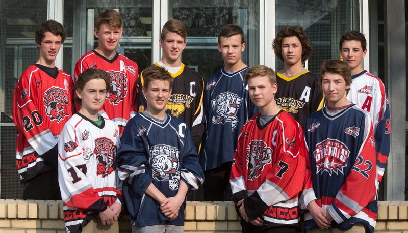 Pictured: the Saskatoon Minor Hockey Association class of 2016. L-R: Cole, Connor, Jack, Adam, Cole, Alex, Kade, Riley, Logan, Jagger