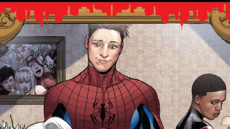 Illustration for article titled Spider-Men #4 tells an alternate-reality story that works