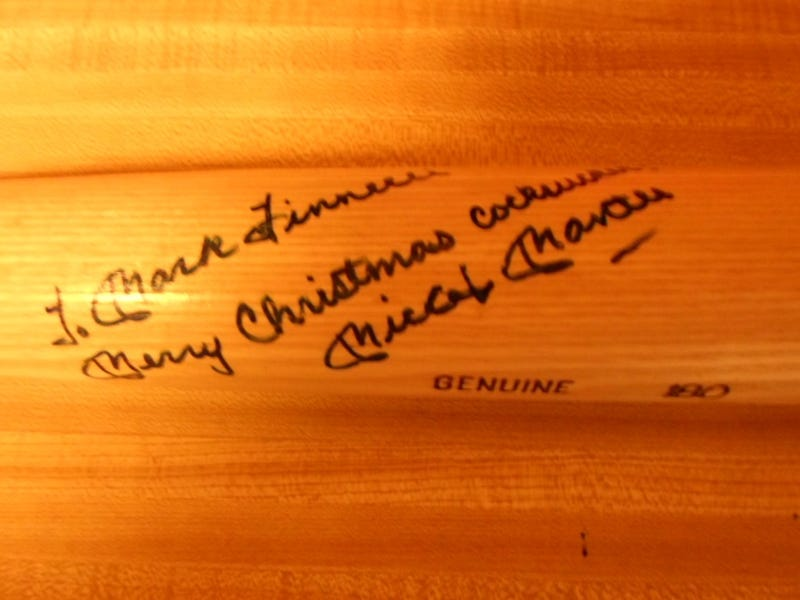 """Illustration for article titled For Sale: A Mickey Mantle Bat Inscribed """"Merry Christmas Cocksucker"""""""