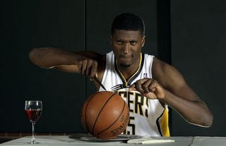 Illustration for article titled Roy Hibbert Is Tired Of People Asking If He's Hasheem Thabeet