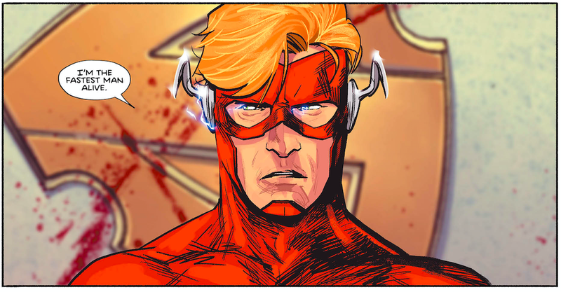 Wally West introducing himself.