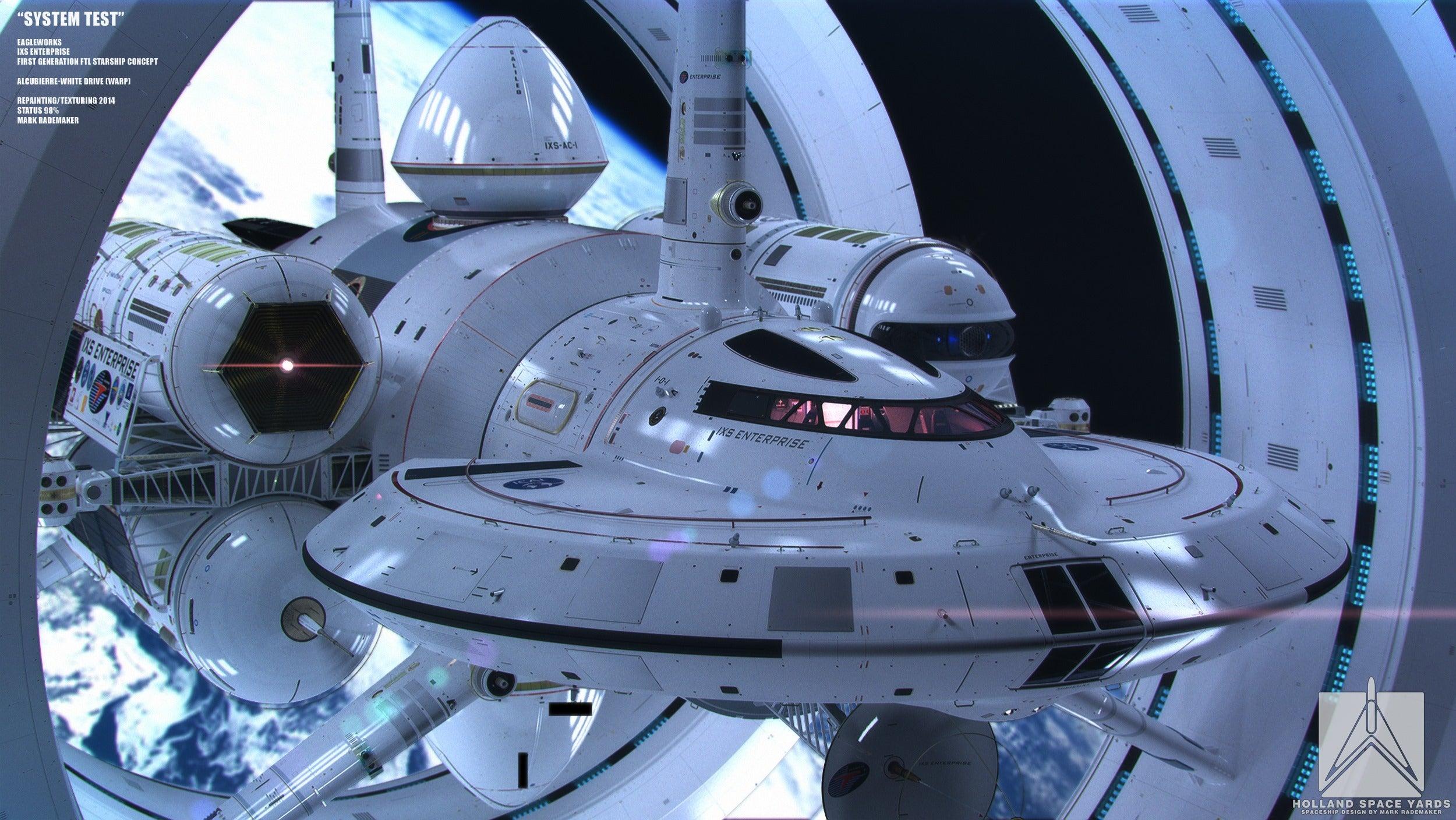 Ecco il nuovo disegno della NASA per una unità nave a curvatura