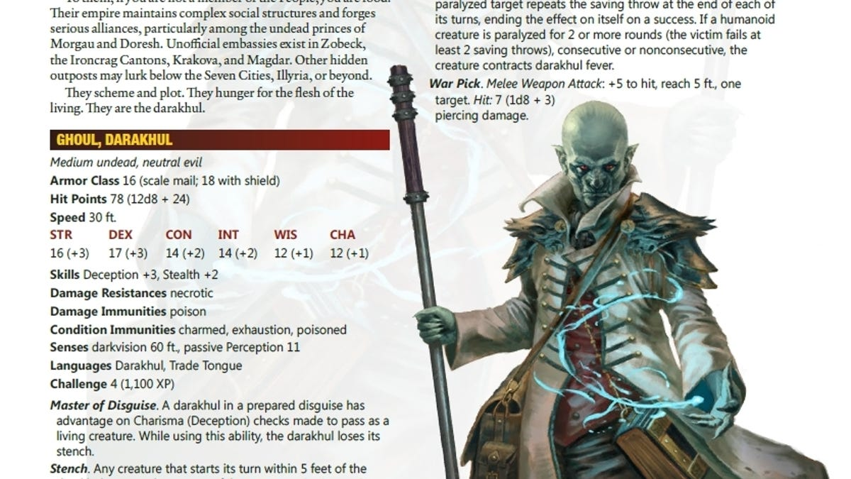 Meet Some of the Terrifying New D&D Monsters in the New Tome