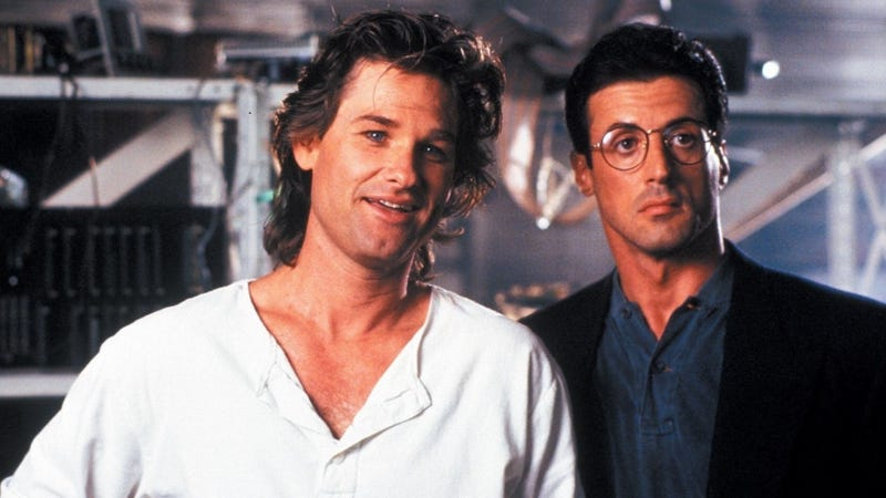 Kurt Russell and Sylvester Stallone in 1989's Tango and Cash. They reteam in this year's Guardians of the Galaxy Vol. 2. Image: Warner Bros.
