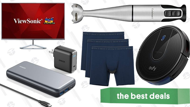 Illustration for article titled Saturday's Best Deals: Robotic Vacuums, Underwear, Candles, Shop Towels, and More