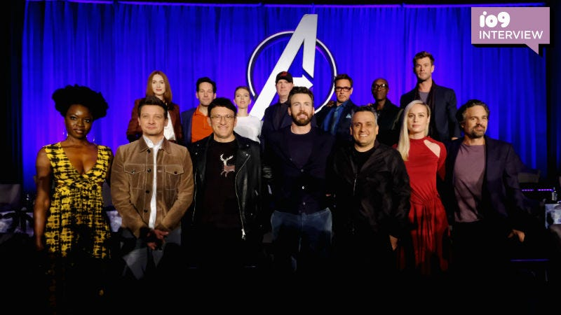 The cast and crew of Avengers: Endgame at the recent press conference.