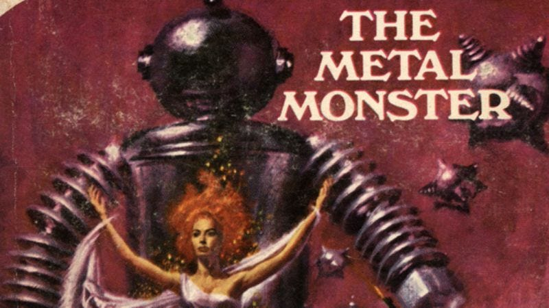 Illustration for article titled The Metal Monster by A. Merritt