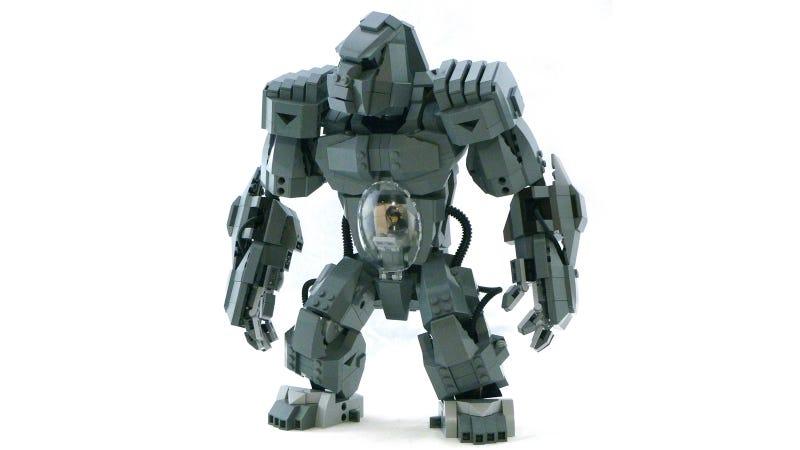 Illustration for article titled Gorilla de Lego Mecha es una razón más para una línea oficial de Lego Mecha