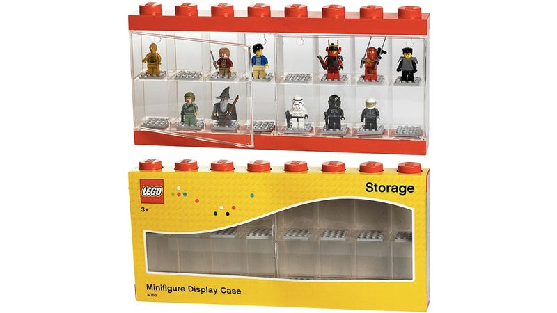 Illustration for article titled Lego's new see-through case is a better way to show off your Minifigs
