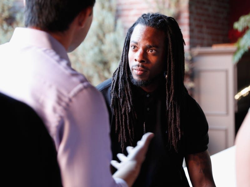 Richard Sherman attends the Players' Tribune Summer Party at No Vacancy on July 12, 2016, in Los Angeles.  Rich Polk/Getty Images for The Players' Tribune