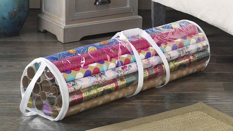 Whitmor Clear Gift Wrap Organizer |  $4 | Amazon