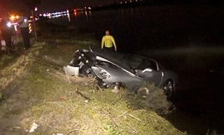 Illustration for article titled Driver Saved From Sinking Corvette After 150 MPH Intoxicated Joyride