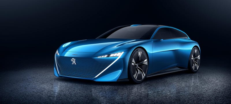 Illustration for article titled The Gorgeous Peugeot Instinct Concept Is How We Could Transition To Self-Driving Cars