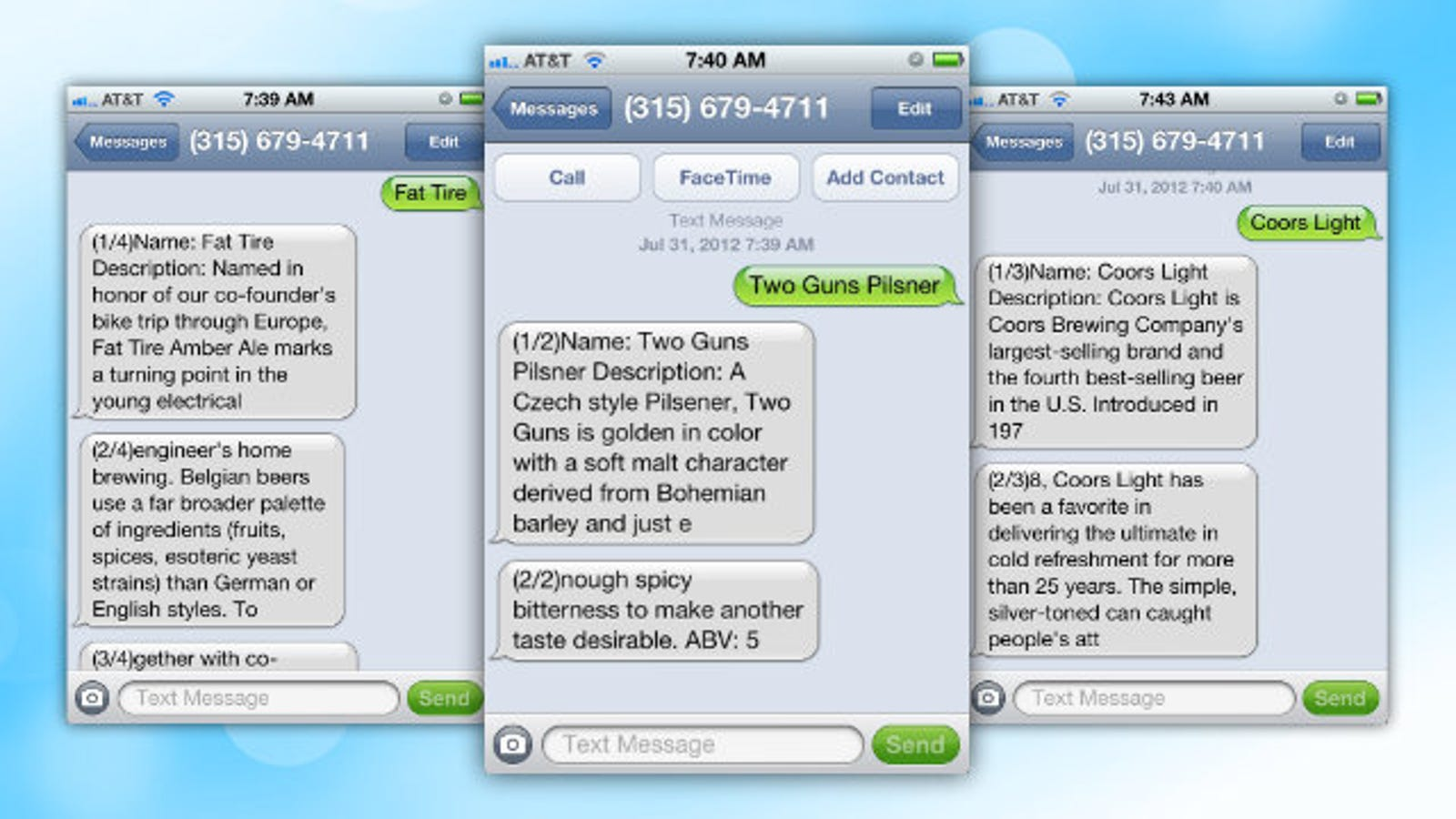 BeerText Us Delivers Beer Descriptions, Ingredients, and