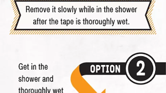 Remove Kinesio Tape Painlessly In The Shower