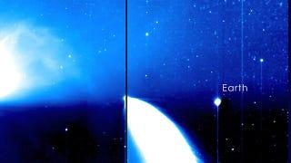 Illustration for article titled Así se ve la Tierra a 160 millones de kilómetros de distancia