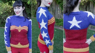 Illustration for article titled This Wonder Woman Sweater Pattern Is A Great Excuse To Take Up Knitting