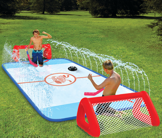 Illustration for article titled This Slip 'N Slide Hockey Rink Will Give You A Good Time, Bloody Knees