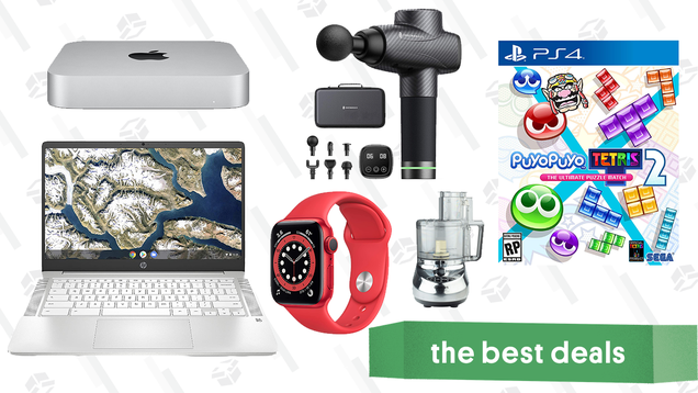 Tuesday s Best Deals: Apple Watch Series 6, HP Chromebook, M1 Mac Mini, Puyo Puyo Tetris 2, Cuisinart Food Processor, TaoTronics Massage Gun, and More