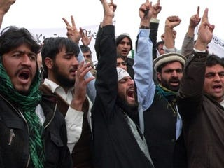 Afghan protesters (Noorullah Shirzada/AFP/Getty Images)