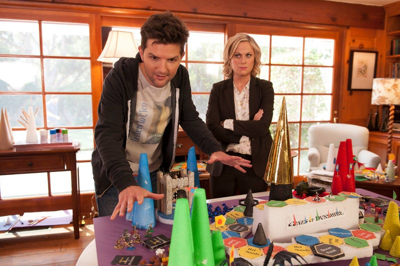 Illustration for article titled Parks and Rec's 'Cones of Dunshire' game is actually going to get made