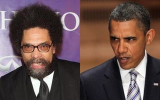 Cornel West; President Obama (Getty Images)