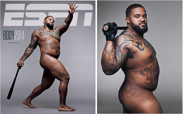 "Prince Fielder on the cover of ESPN's annual ""Body"" issue."