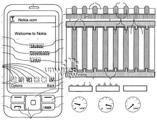 Illustration for article titled Nokia Haptikos Tactile Touchscreen Patent Is a Bit Like Apple's