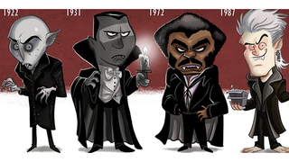 Illustration for article titled Cartoony Evolution Of Famous Vampires