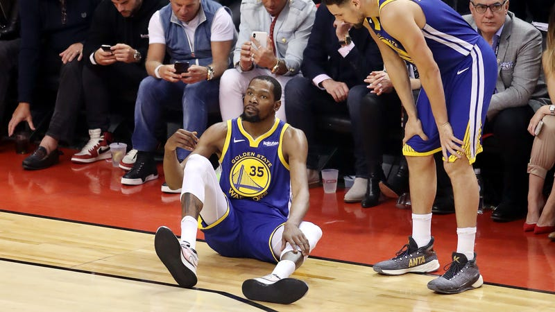 Illustration for article titled Kevin Durant Ruptured His Achilles Tendon, And The Warriors Are Shocked