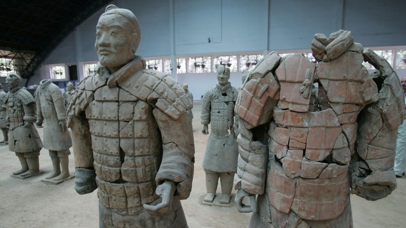 Emperor Qin's Terracotta Warriors on display in Lintong of Shaanxi Province, China. (Image: Getty)
