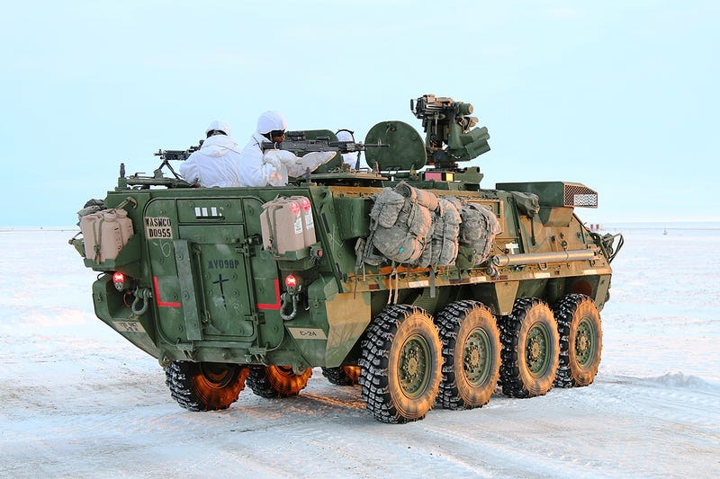 Illustration for article titled Army Sends Stryker Armored Vehicles To Arctic Circle For The First Time