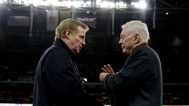 Jerry Jones impeding Roger Goodell's contract negotiations