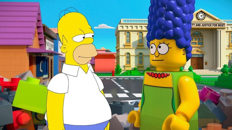 """Illustration for article titled The Simpsons: """"Brick Like Me"""""""