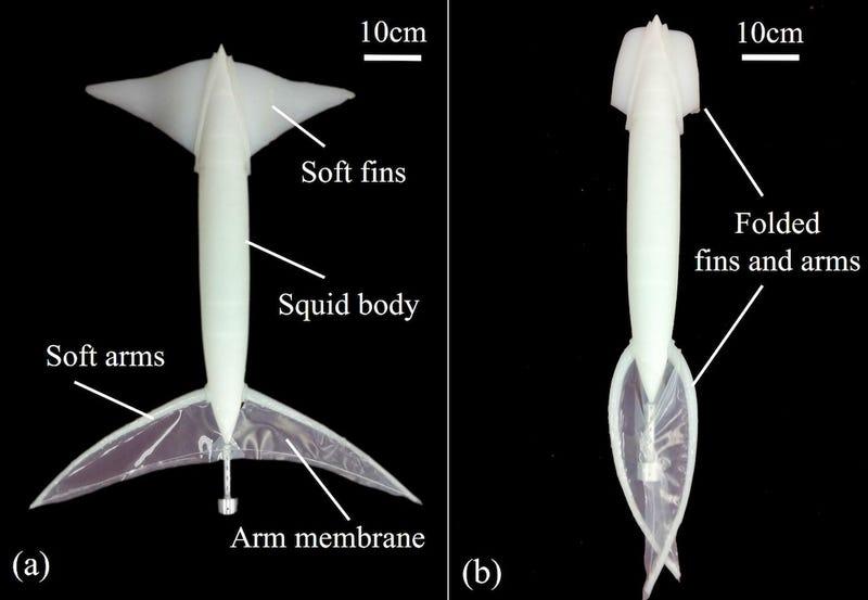 """Proposed """"squid-like aquatic-aerial vehicle"""""""
