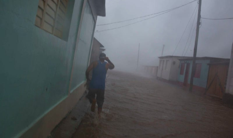 Hurricane Matthew roars over Baracoa, Cuba on Tuesday, October 4th. Image: AP