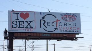 Illustration for article titled God Loves Sex, According to This Billboard
