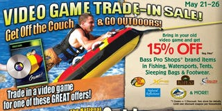 Illustration for article titled Bass Pro Shops Wants Your Video Games